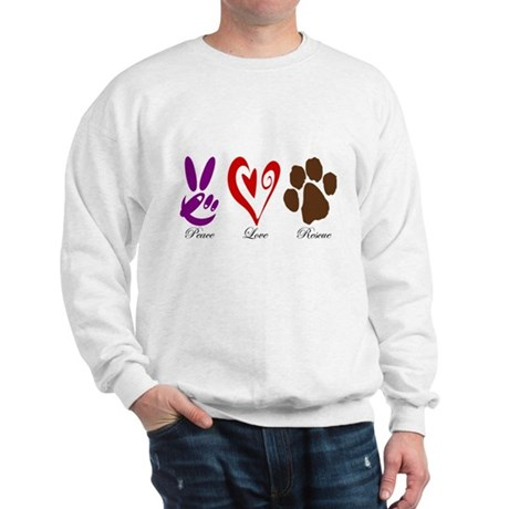 Peace, Love, Rescue Sweatshirt