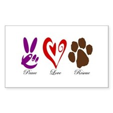 Peace, Love, Rescue Decal
