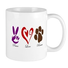 Peace, Love, Rescue Mug