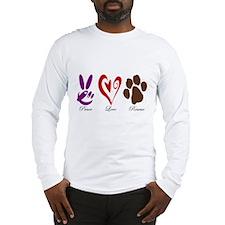Peace, Love, Rescue Long Sleeve T-Shirt