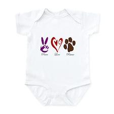 Peace, Love, Rescue Infant Bodysuit