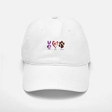 Peace, Love, Rescue Baseball Baseball Cap