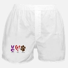 Peace, Love, Rescue Boxer Shorts