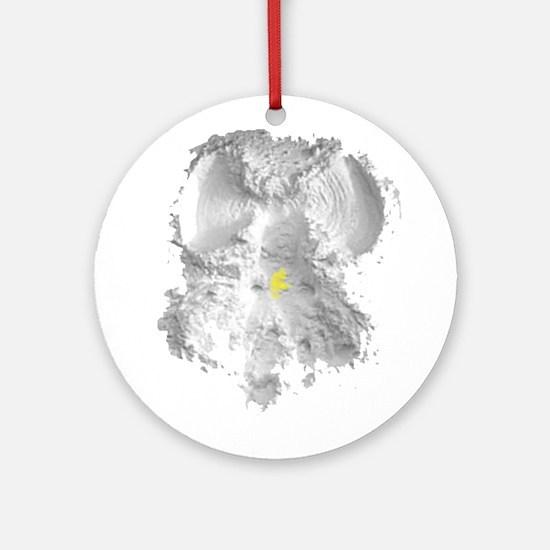 Yellow Snow Angel Ornament (Round)