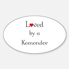 Loved by a Komondor Oval Decal