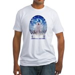Winter Angel Fitted T-Shirt