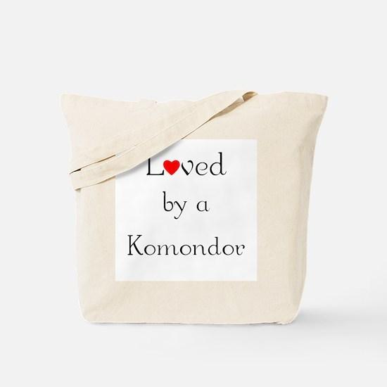 Loved by a Komondor Tote Bag