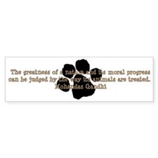 Gandhi Animal Quote Bumper Bumper Sticker