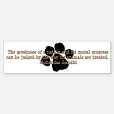 Gandhi Animal Quote Bumper Bumper Sticker