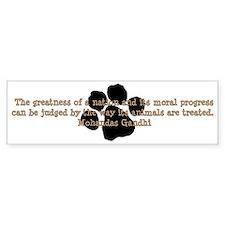Gandhi Animal Quote Car Sticker