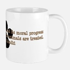 Gandhi Animal Quote Small Mugs
