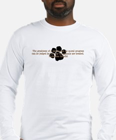 Gandhi Animal Quote Long Sleeve T-Shirt