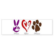 Peace, Love, Rescue Bumper Sticker