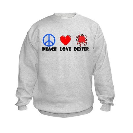 Peace Love Dexter Kids Sweatshirt