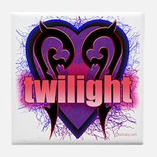 Twilight Grabs My Heart Tile Coaster