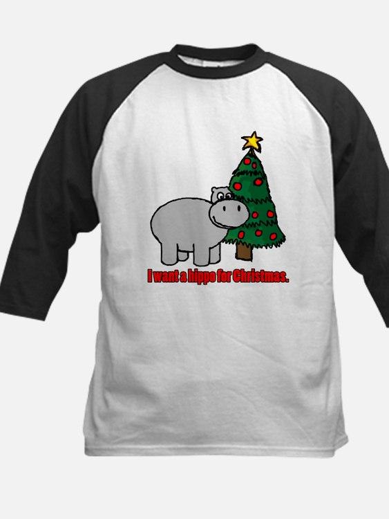 I want a hippopotamus for christmas Baseball Jerse