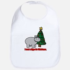 Cute I want hippopotamus christmas Bib