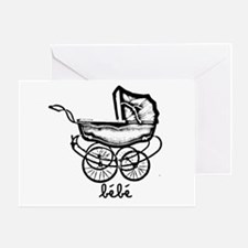 Cute Baby carriage Greeting Card