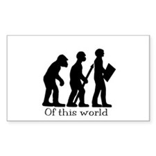 Of this world in black print - Rectangle Decal