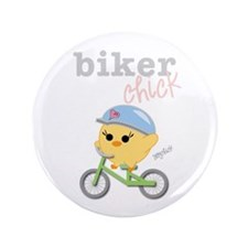 "Biker Chick 3.5"" Button"