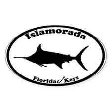 Islamorada FL Oval Decal