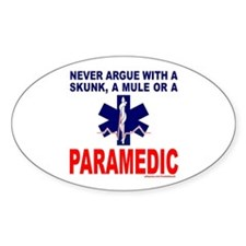 PARAMEDIC/EMT Oval Decal