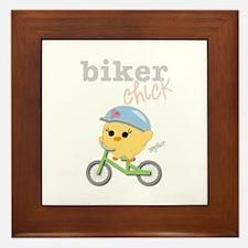 Biker Chick Framed Tile