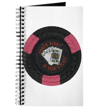 Pecks Poker Night Black Chip Notebook