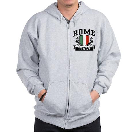 Rome Italy Zip Hoodie