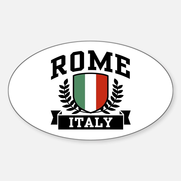 Rome Italy Oval Decal