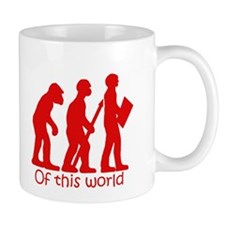Of this world red and white Mug