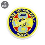 "USS Milwaukee (AOR 2) 3.5"" Button (10 pack)"