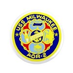 "USS Milwaukee (AOR 2) 3.5"" Button"