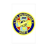 USS Milwaukee (AOR 2) Rectangle Sticker 10 pk)