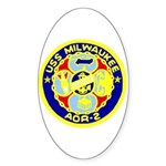 USS Milwaukee (AOR 2) Oval Sticker (50 pk)