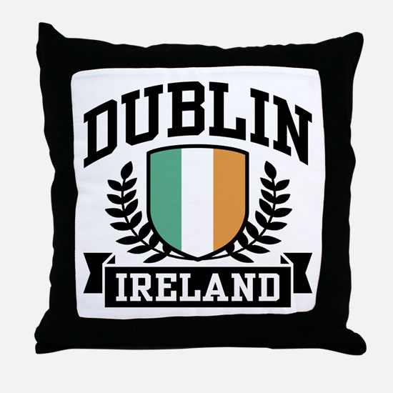 Dublin Ireland Throw Pillow