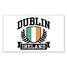 Dublin Ireland Rectangle Decal