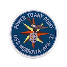 """USS Monrovia (APA 31) 3.5"""" Button (100 pack)"""