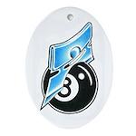 Eight Ball Oval Ornament