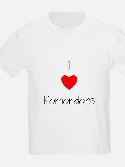 I Love Komondors Kids T-Shirt