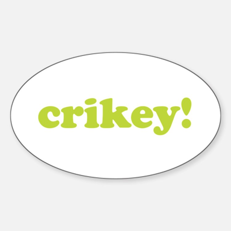 Crikey! Oval Decal