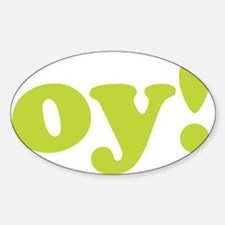 oy! Oval Decal