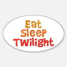 Eat Sleep Twilight Oval Decal