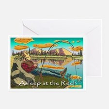"""ASLEEP AT THE REEL"" Greeting Card"