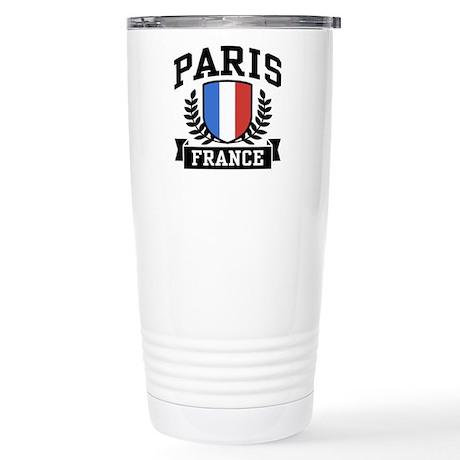 Paris France Stainless Steel Travel Mug