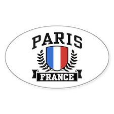 Paris France Oval Decal