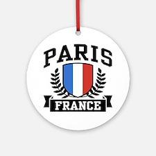 Paris France Ornament (Round)