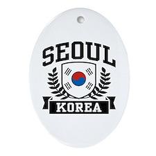 Seoul Korea Oval Ornament