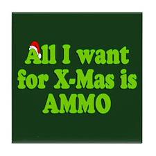 Christmas Ammo Tile Coaster