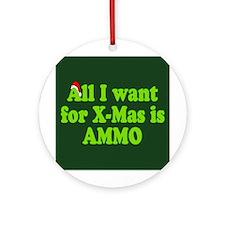 Christmas Ammo Ornament (Round)